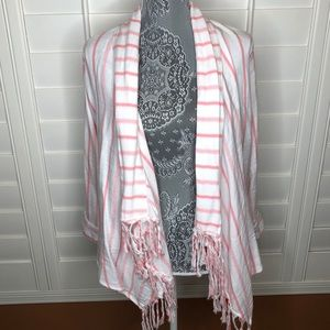 Tilly's Full Tilt Long Sleeve Cuffed Striped Shawl
